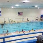 Swim lessons, photo taken from the mezzanine