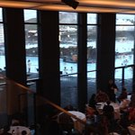 View through Lava restaurant to lagoon