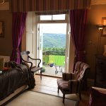 Room 4 and balcony view over Tamar Valley