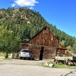 Vintage Colorado barn on the property