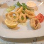 Full portion calamari starter - not even a handful of calamari here, rip off