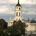 Vilnius Cathedral Square from our window.