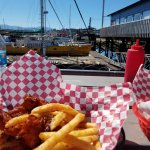 Fish & Chips on the patio - location, location, location
