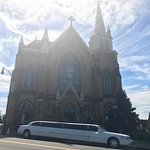Beautiful church with a wedding taking place