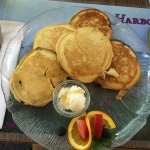 Silver Dollar Pancakes containing Maine Blueberries & Pecans