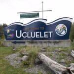 Welcome sign to Ucluelet.
