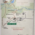 Map of the George Washington Carver site (from NPS brochure)