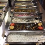 Rows and rows of salads. Some dips are great on meat, rice or bread.