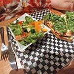 Chicken Sandwich with Side Salad