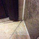 Mouldy, dirty bathroom