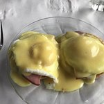 Eggs Benedict custom made for you on the spot for Sunday Brunch.