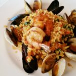 Red Curry Risotto and Seafood