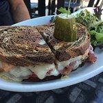 Reuben sandwich, cob salad, loaded warm veggie wrap