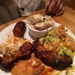 rib, sausage platter. Wouldn't order again.