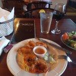 Coconut Shrimp and my salad