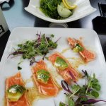 Seaweed Salad & Salmon Carpaccio