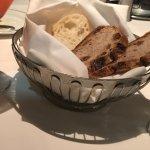 Red Door Cocktail and raisin pecan bread