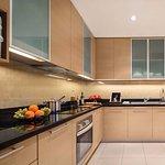 Kitchen in two-bedroom deluxe