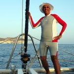 A few moments are commemorated by the wonderful sailor from the catamaran