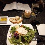 Good romantic setting, even the ordinary salad looks so good