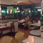 Inside the french restaurant