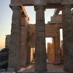 Visiting Acropolis shortly before sunset