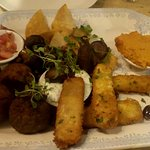 Vegetarian mezze sharing starter or snack