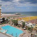 Panoramica dal 4° piano dell'albergo