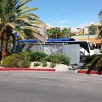 The bus stop is right in front of the hotel, making trips to the Strip or elsewhere, very easy.