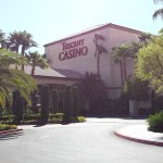 Front of casino, directly adjacent to hotel