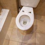 No toilet seat