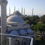 View from the rooftop restaurant (the Blue Mosque in background)