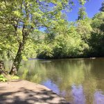 A beautiful view of the toccoa river, within walking from our travel trailer