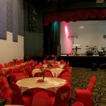 This is the theatre room decorated  for a quinceanera.  It was beautiful