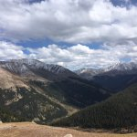 Twin lakes amd at the continental divide