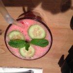 Watermelon cooler - bird's eye view