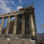 View of/from the Parthenon - Athens Greece August 2017 - Under Restoration