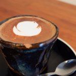 A shot of dark hot chocolate