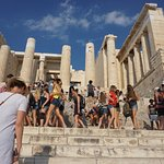 View from the Parthenon - Athens Greece August 2017 - good crowd - leave yourself a couple of ho