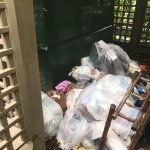Disgusting garbage with rats outside our condo building