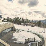 Widok na stok narciarski (jest jeszcze na góry)
