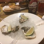 The oysters awaiting their 'procedure'