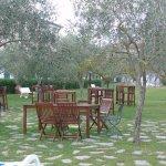 salon de jardin dans le parc