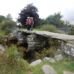The oldest Clapper bridge in the world at Postbridge where we paused for a well earned cup of te