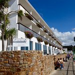 From St. Brelade's Bay looking at the rear of the hotel
