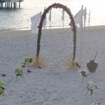 Beach view for wedding ceremony