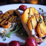 grilled sourdough w/ house-made boursin cheese, fresh bing cherries, grilled peaches, arugula, f