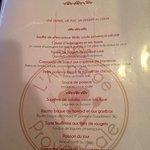 le menu à 26 €