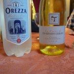 vin bof, très bonne eau pétillante