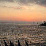Beautiful evening in Heisler Park. View from the flagpole